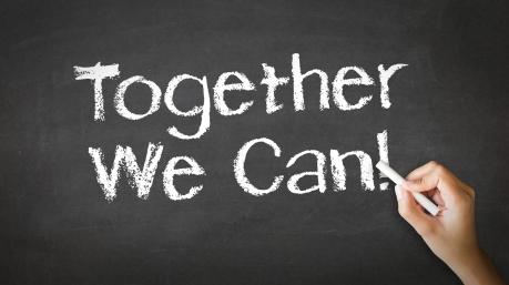 Together We Can Chalk Illustration