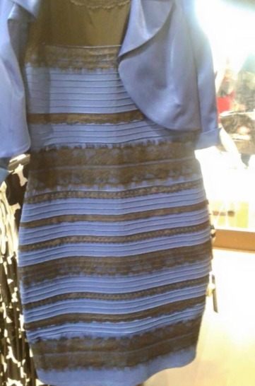 A photo of the dress posted on Tumblr on Wednesday, pictured, sparked the debate over its apparent color. PHOTO: HTTP://SWIKED.TUMBLR.COM/