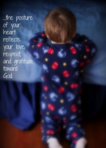 little boy kneeling in prayer