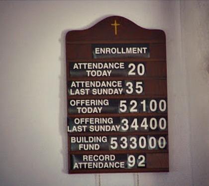 baptist attendence board