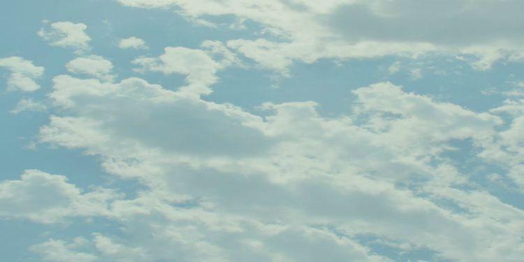 white space sky