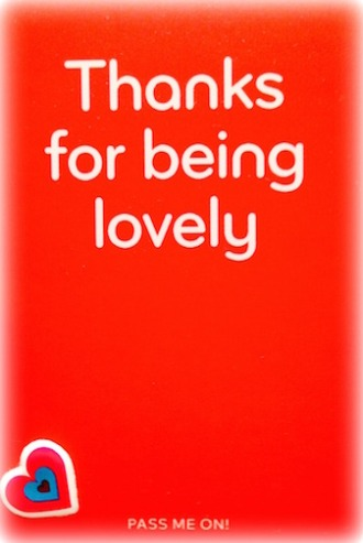 Thanks for being lovely